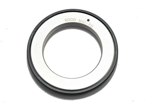 M42-FD M42 Screw Fit Lens to Canon FD Mount Body Adapter Ring Flangeless