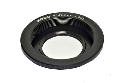 M42 Lens to Nikon F Camera Body Adapter Focus on Infinity  M42 - Nikon F Adapter