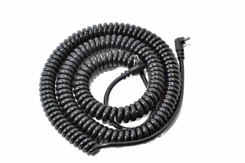 PC-PC Coiled Flash Extension Lead Male to Female 3 Metre