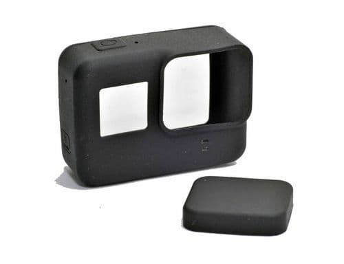Silicon Soft Protective Dirtproof Skin Cover and Lens Cap For GoPro HERO 6/5