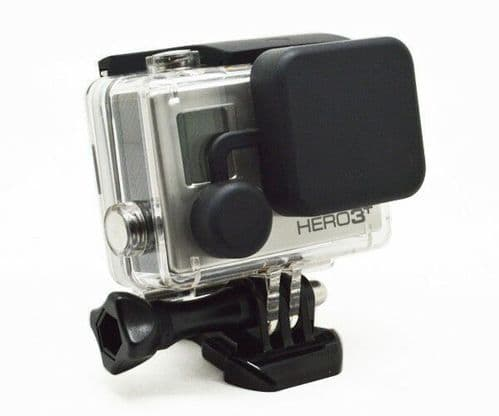 Silicone Protective Lens Cap Case Cover For GoPro Hero 3 4 Housing