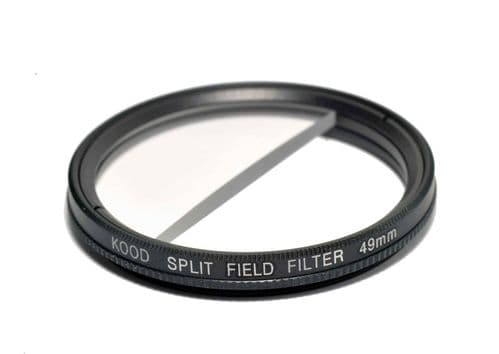 Split Field Filter +2 Diopter 49mm in Slim Rotating Ring Split-Field 49mm Filter