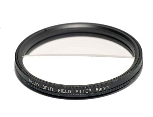 Split Field Filter +2 Diopter 58mm in Slim Rotating Ring Split-Field 58mm Filter