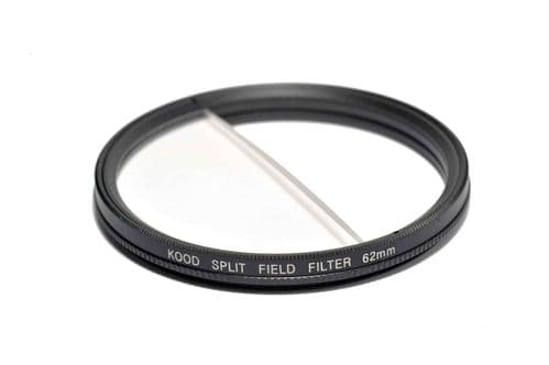 Split Field Filter +2 Diopter 62mm in Slim Rotating Ring Split-Field 62mm Filter