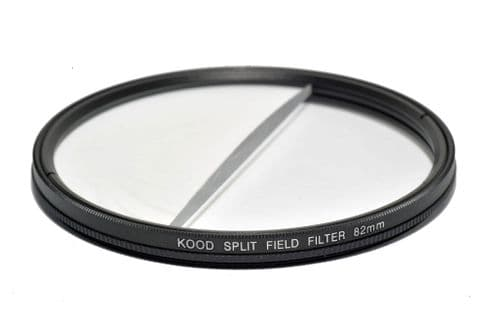 Split Field Filter +2 Diopter 82mm in Slim Rotating Ring Split-Field 82mm Filter