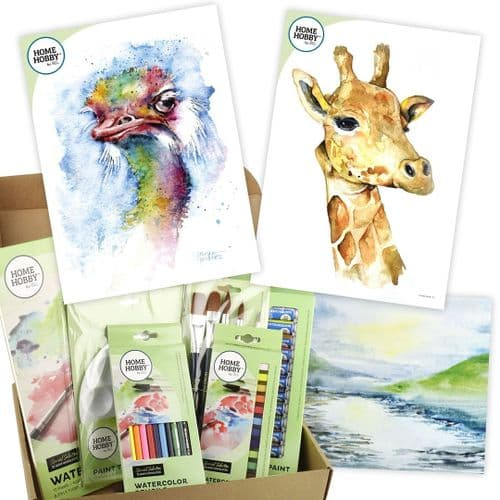 THE HOMEHOBBY by 3L WATERCOLOR STUDIO KIT PLUS • Ostrich BY GeraRd Hendriks