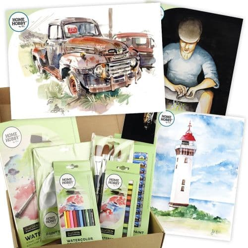 THE HOMEHOBBY by 3L WATERCOLOR STUDIO KIT PLUS - RUSTY TRUCK BY GARY WING