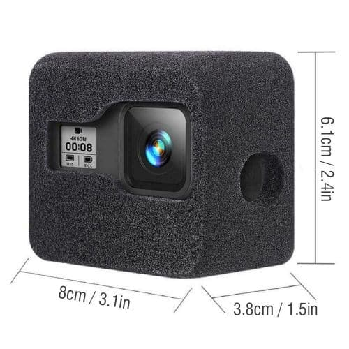 WindSlayer Foam Wind Noise reduction cover GoPro Hero 8 Compatible