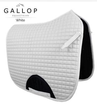 ***ONE ONLY***  Gallop Quilted Dressage Saddle Pad WHITE