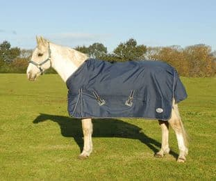 """***TO CLEAR*** Rhinegold Torrent Lightweight Outdoor Rug Navy 6'3"""""""