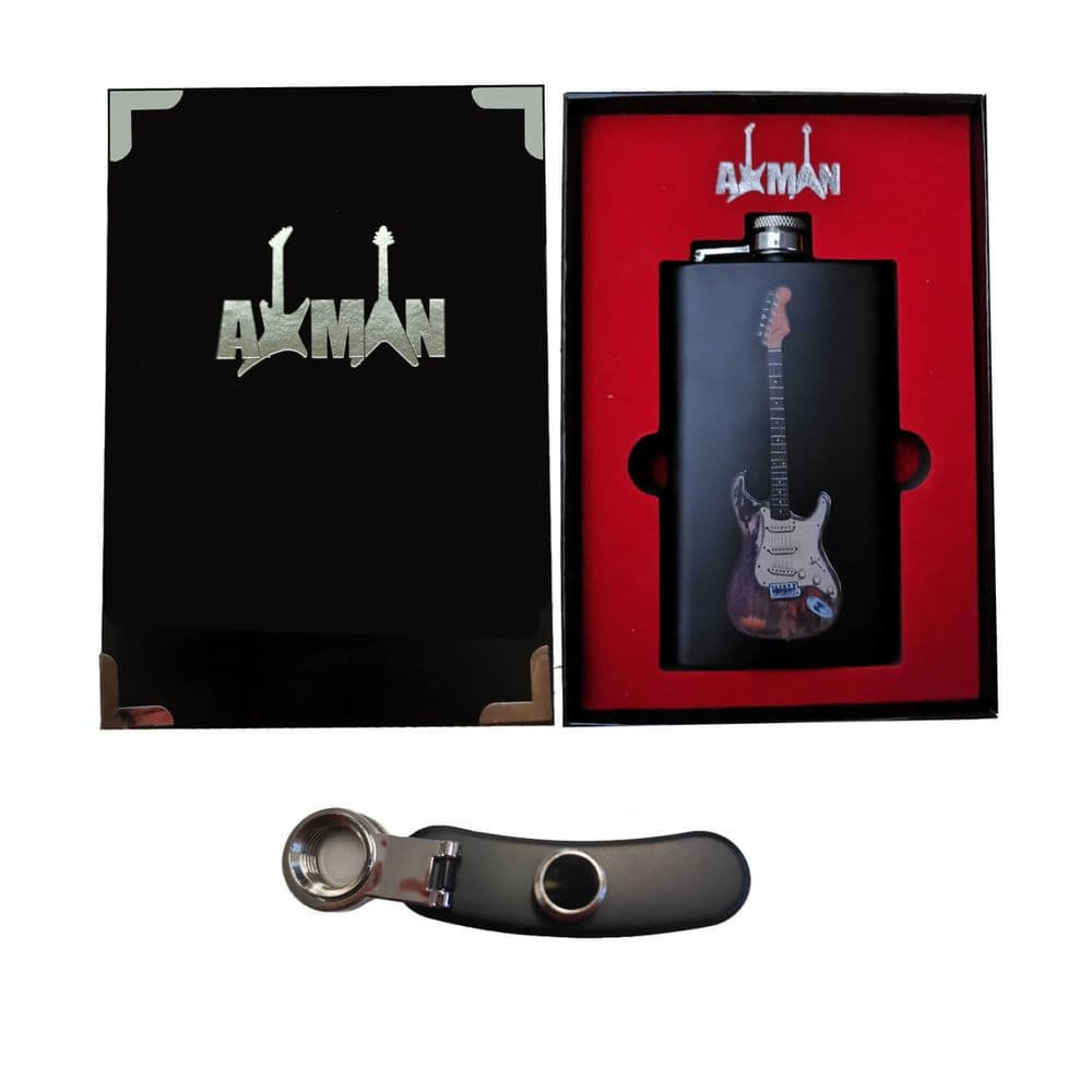 Rory Gallagher Hip Flask with Gift Box | 6 0z Stainless Steel | Original Artwork