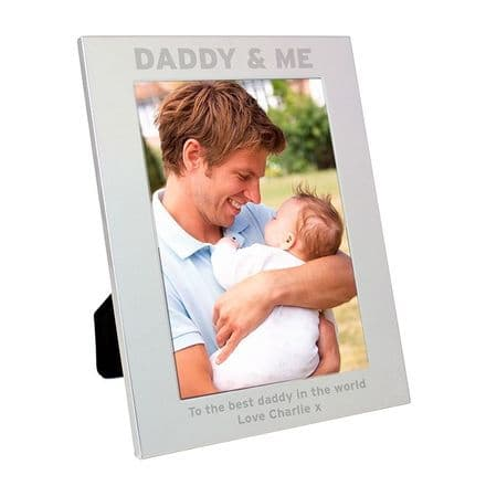 Daddy and Me Metal Photo Frame