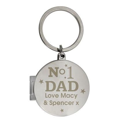 Personalised Key Ring Opens For Photo