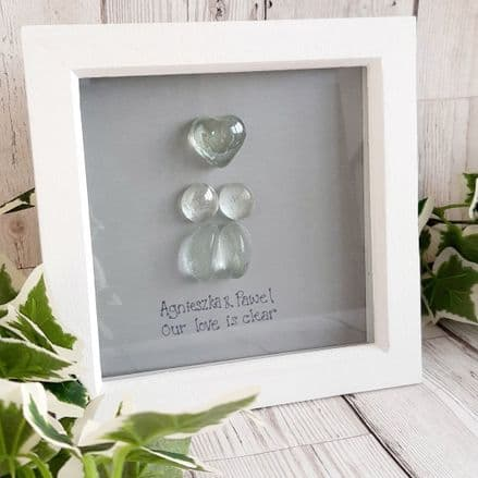 Glass Pebble People Valentines Gift Couples Gift
