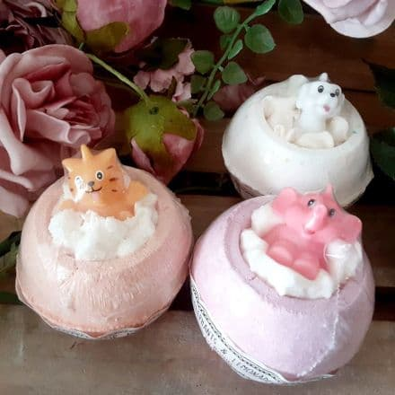 Set of 3  Bath Bombs With Toys