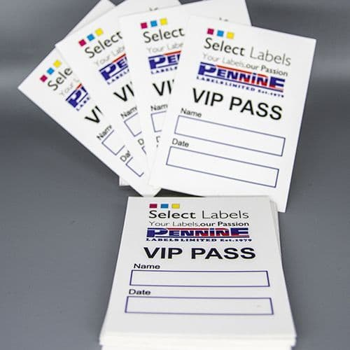 50 Customised Printed Self-Adhesive Fabric Labels From £89