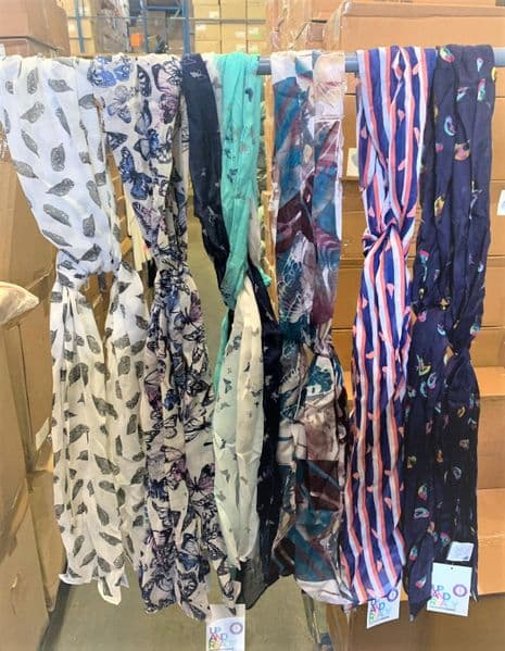 60p each - Fashion Scarves in 6 Styles x 36