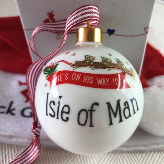 Bauble: He's on his way to 'Isle of Man'