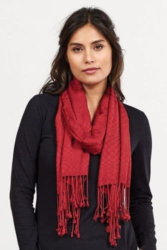 Nomads Plain Scarf - Red