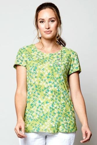 Nomads Side Button Top in Kiwi