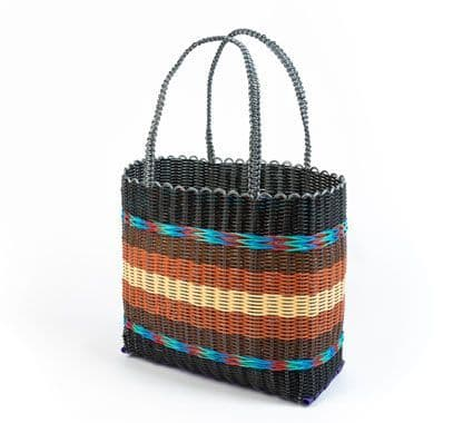 Recycled Plastic Shopper in Bonfire Toffee