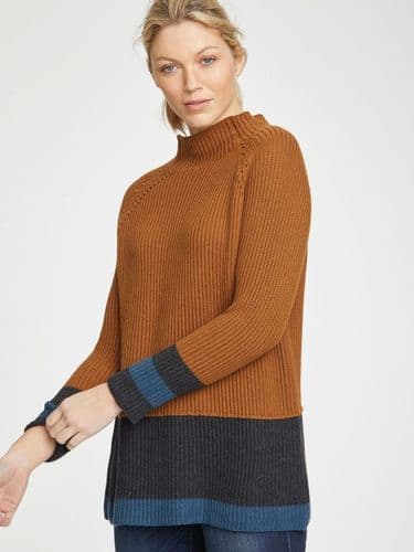 Though Clothing Helmi Sweater in Toffee