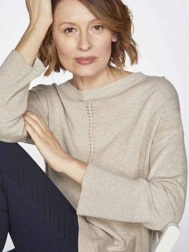 Though Clothing Perils Long Line Sweater in Birch