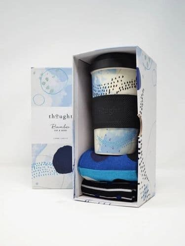 Thought Clothing Jerrold Bamboo Cup & Socks Gift Box Size 7-11