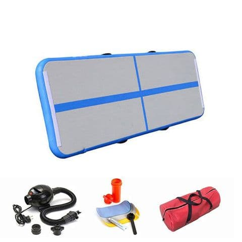 Airtrack Inflatable Gymnastic Home Tumble Track 3m x 1m x 0.1m inc. Electric pump