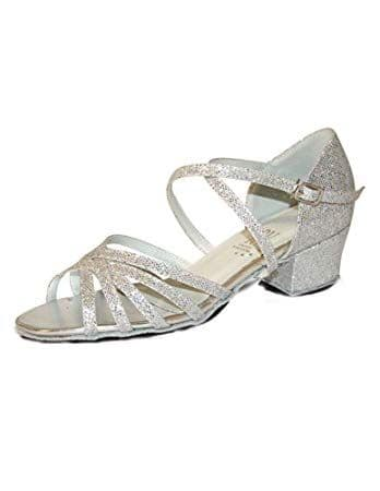 Bella 1.2'' Cuban Ballroom & Latin Shoe available in Silver Hologram