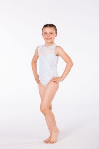 Bespoke 'Jess' with Overlay No sleeve Leotard - Design Your Own