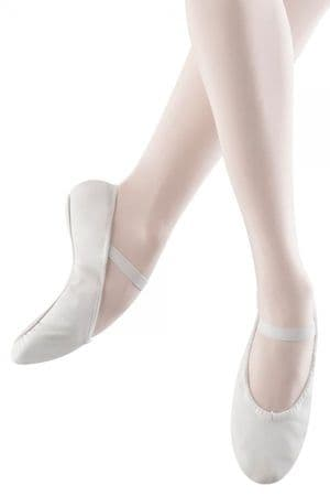 Bloch White Leather Full Sole Ballet Shoe S0209B - Medium Width Fitting