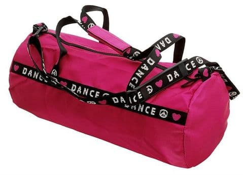 Capezio B81 Dance Duffle Bag in Pink and Black