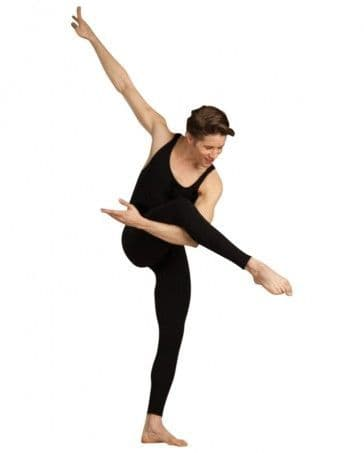 Capezio CC821 Men's Black Cotton Unitard