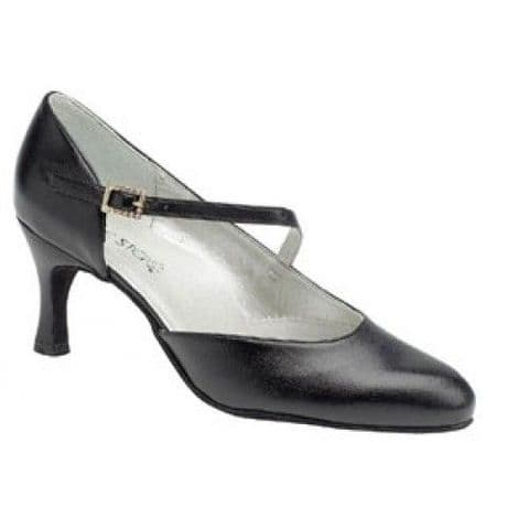 Foxtrot Ballroom Dance Shoe by Dance Steps in Black