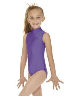 High Neck Keyhole Back No Sleeve Leotard all colours