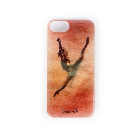 Jete in Red iPhone 6/6s/7/8 Soft Rubber Phone Case