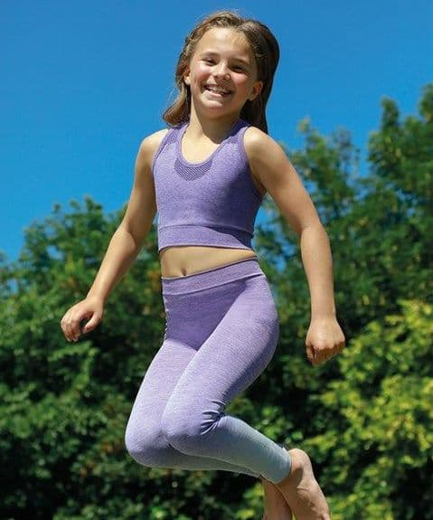 Kids Seamless Legging & Crop Top Set
