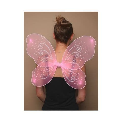 Large Pink Fairy Wings