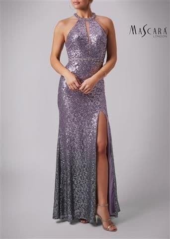 Mascara Ombre Sequin Evening Gown MC166105 in Mauve