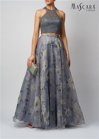 Mascara Two Piece Ball Gown MC181349 in Charcoal