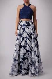 Mascara Two Piece Ball Gown MC181349 in Navy