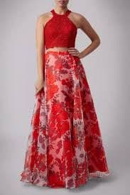 Mascara Two Piece Ball Gown MC181349 in Red