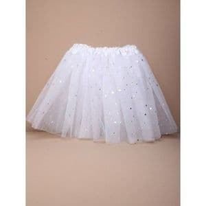 Molly & Rose Glitter White Tutu Skirt