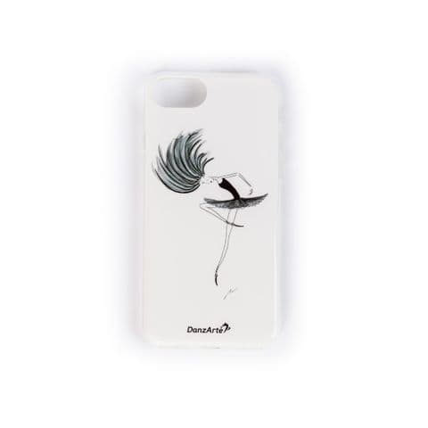 Passe in Black iPhone 6/6s/7/8 Soft Rubber Phone Case