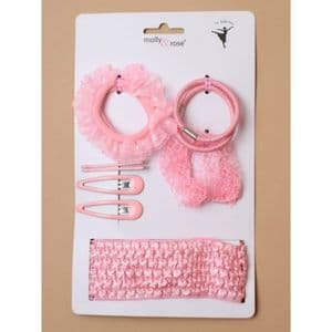 Pink Ballerina Hair Set