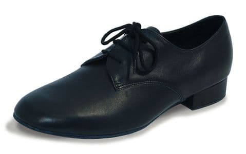 Roch Valley 'Zeus' Mens Black Leather Dance Shoe