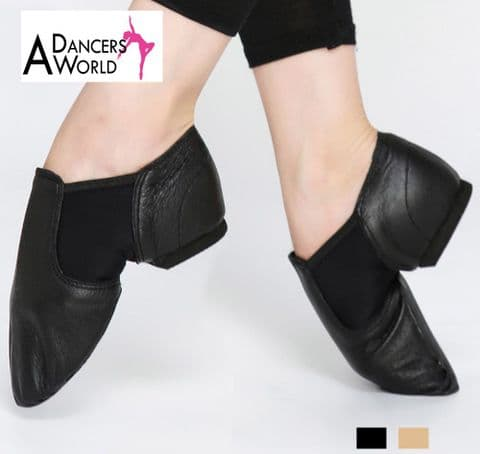 SALE Pull on Split Sole Jazz Shoe in Black