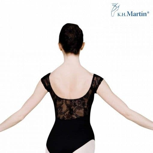 Sansha 'Desire' Cap Sleeve Lace Leotard in Black