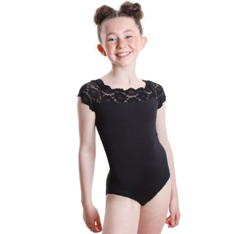 SO Danca Junior  Off The Shoulder Lace Leotard